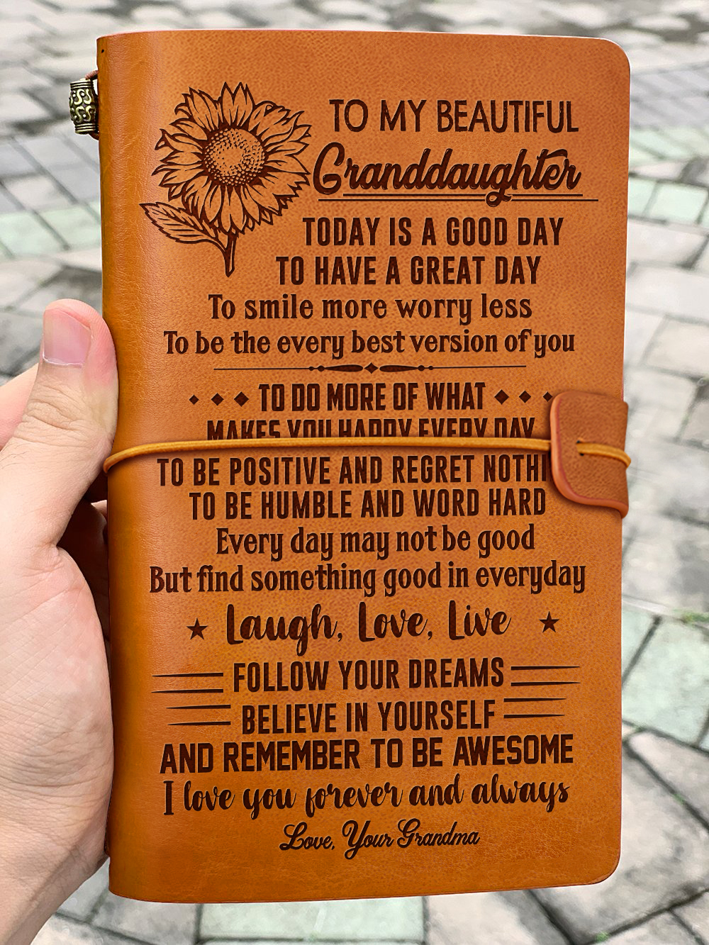 Leather Journal Grandma To Granddaughter